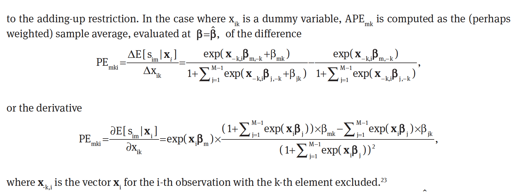 How to interpret an average marginal effect in a multinomial