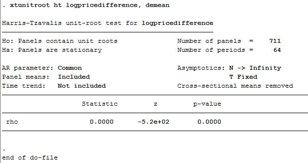Unit Root Test - Interpretation - Statalist